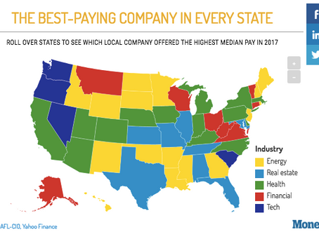 This Map Shows the Best-Paying Company In Every State (Interactive Infograph)