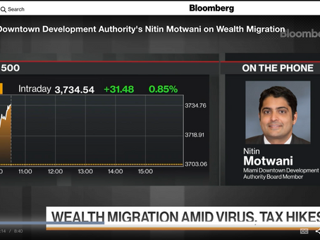 Bloomberg: Miami's DDA take on why wealth migration paths are leading to the Sunshine State