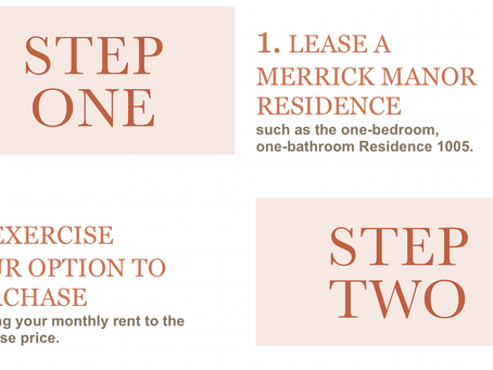 Take advantage of Merrick Manor's Rent-to-Own Program for Residence UPH 1005 - Now Only $489,990!