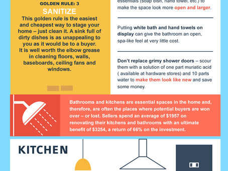 5 Golden Rules of Home Staging on a Budget (Infographic)