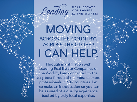 Moving Across the Country? Across the Globe? I Can Help.