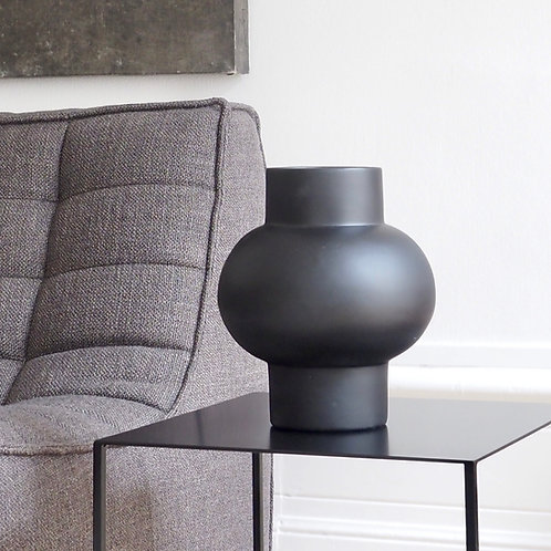 vase-bulbe-noir-ceramique-homata-h27cm-faitmain-contemporain
