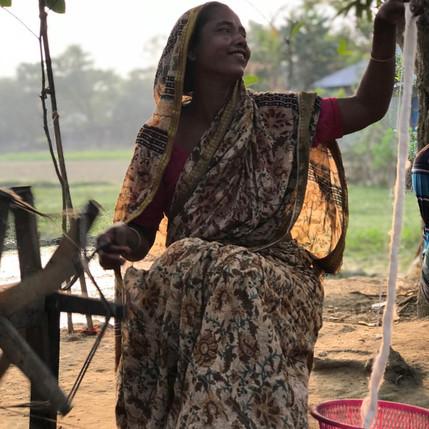 Bengalies en train de filer