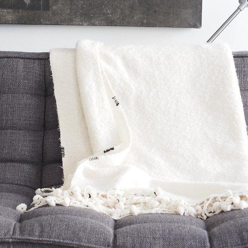 couverture-plaid-pure-laine-blanche-ecru