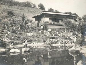 Upper House Pond Children RocksSepia.jpe
