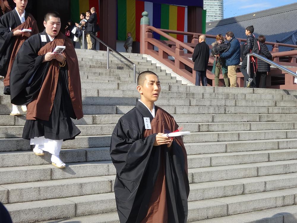 (Nishimura, lors de sa formation monastique. Photo:Seth Miranda, date inconnue)