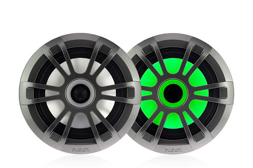 "Fusion EL Series 6.5"" 80 Watt Full Range Shallow Mount Marine Speakers with LEDs"