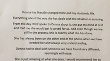 A lovely testimonial from a client