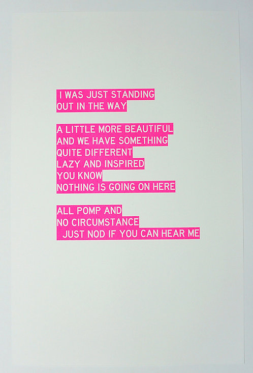 Poem Written from the Perspective of a Sculpture