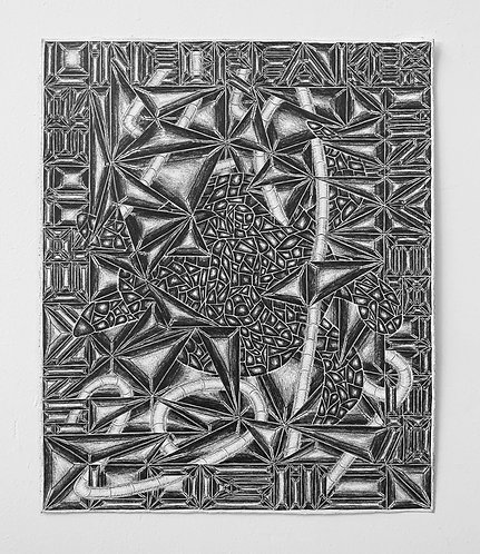 Untitled (Linebreaker, Inverter, Inverter, Logic, 2019), Graphite, 17in x 14in