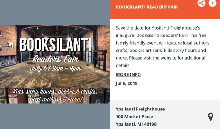 "We will be at the Ypsilanti Bookfair talking about ""Corked on July 6th, 2019"