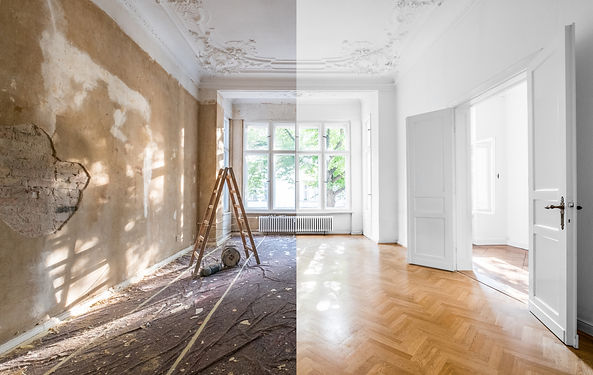 renovation concept - apartment before an