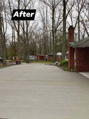 Driveway after.