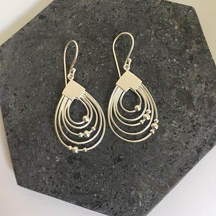 Oval Drop Statement Earrings