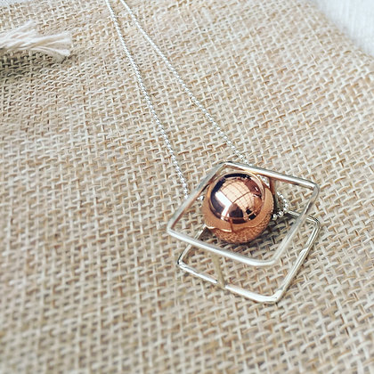 Cube and Ball Necklace
