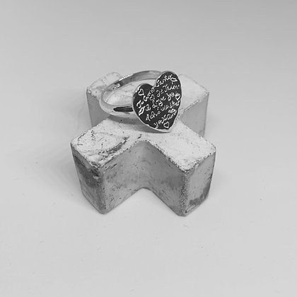 Engraved Heart Ring
