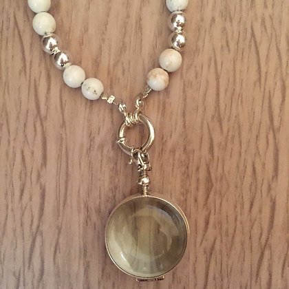 Howlite necklace with locket