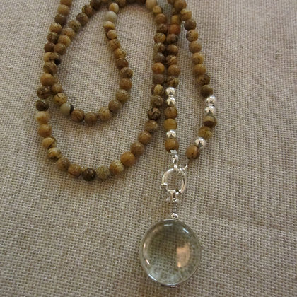Jasper necklace with locket