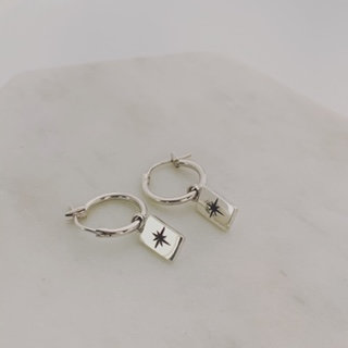 Rectangle Star Earrings