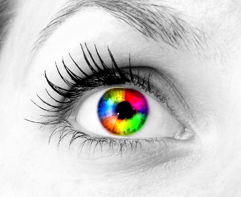 Closeup of an Imaginate woman's eye