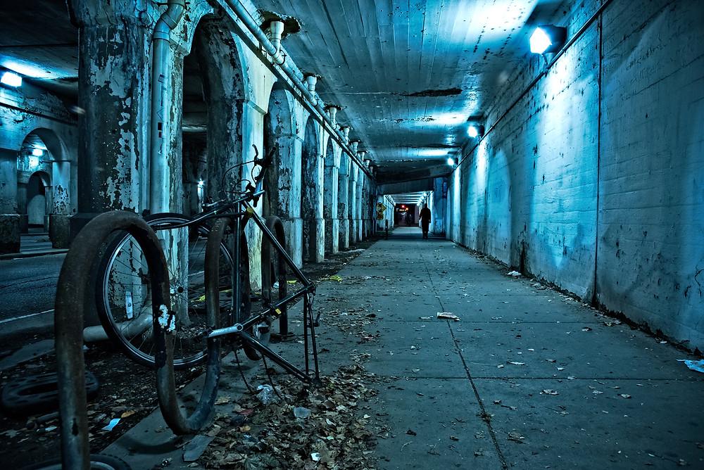 abandoned city street