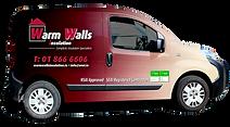 External wall insulation Van 1 Warm Walls insulation