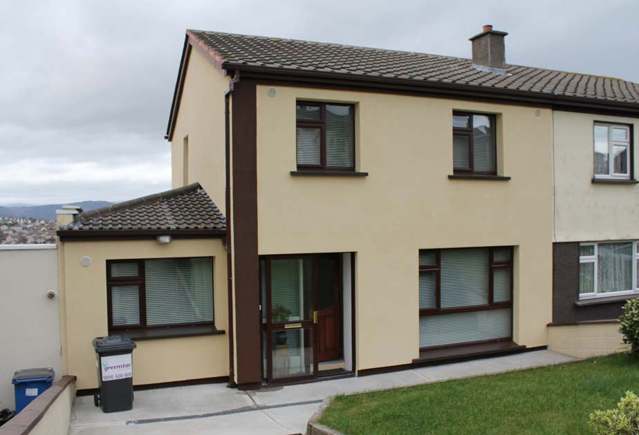 External wall insulation in Wicklow