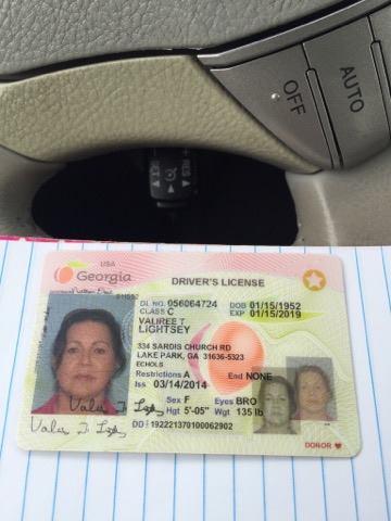 Georgia License License Driver Georgia Driver
