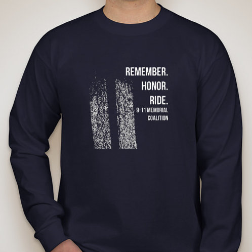 Navy-2018 ride route shirt-long sleeve