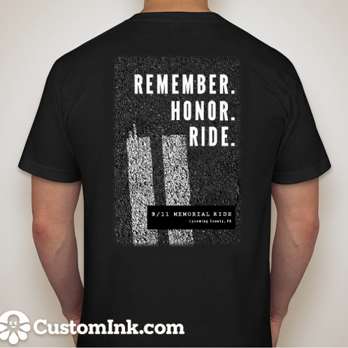 Black T-Shirt - Remember. Honor. Ride.
