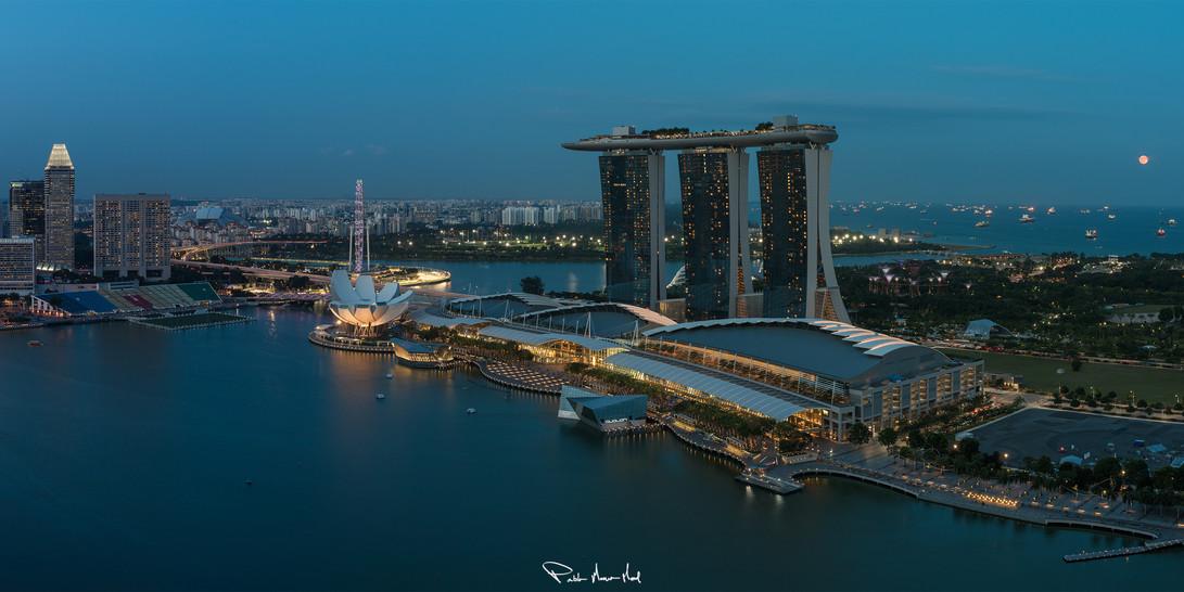 Luna llena en Singapur