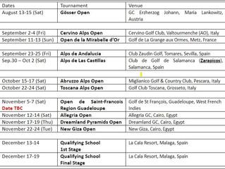 Alps Tour Golf 2020