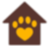 Cat paw print and house - Catify My Home logo