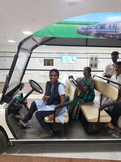Car driving beneficiary placed at Chenna