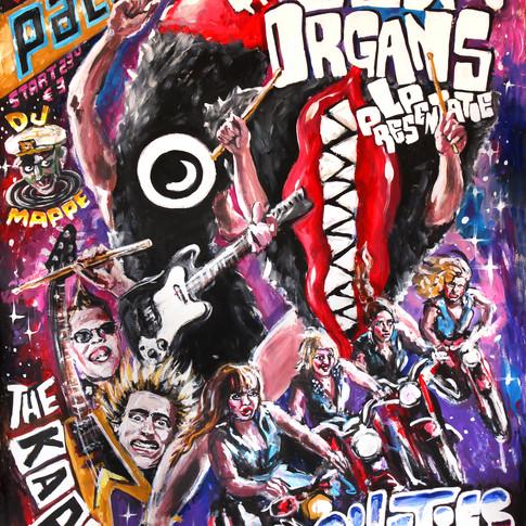 the sex organs
