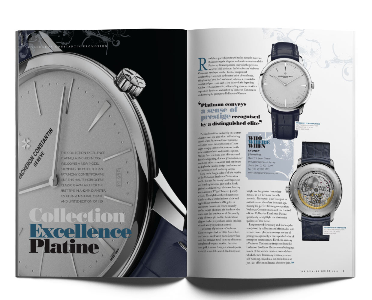 Vacheron editorial.