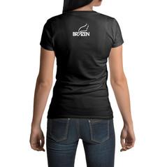 Logo design on back of tshirt