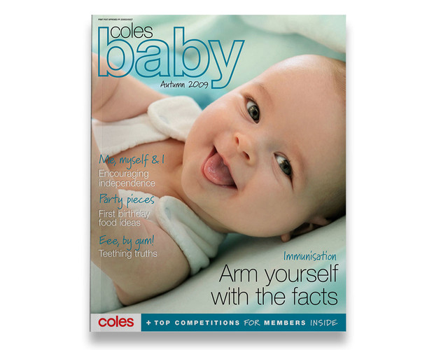 Coles Baby magazine for Coles Supermarkets.
