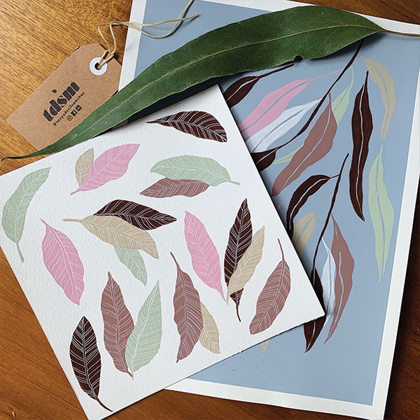 Leaves in gouache