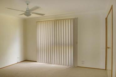 Prerenovated main bedroom