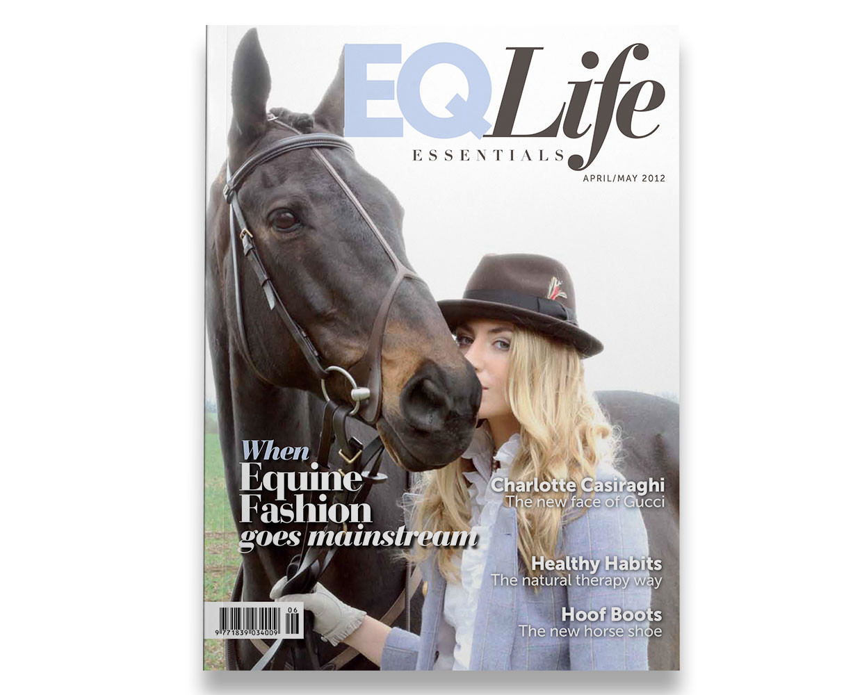 Equestrian Life magazine fashion cover.