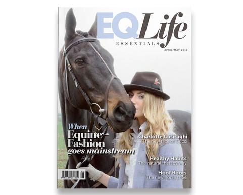 Equestrian Life magazine fashion cover.