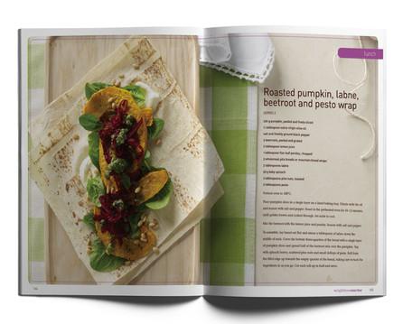 Weightloss Warrior internal recipe spread.