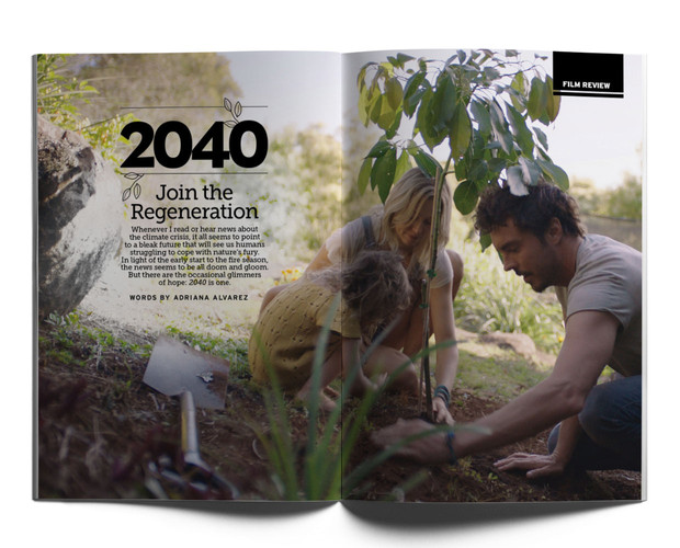 2040 documentary opening spread