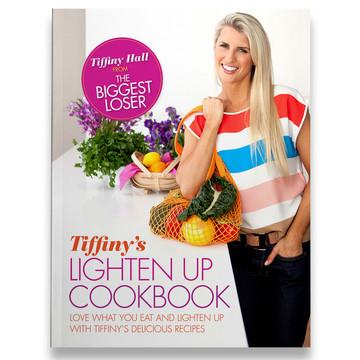 Tiffiny Hall - Lighten Up Cookbook cover design.