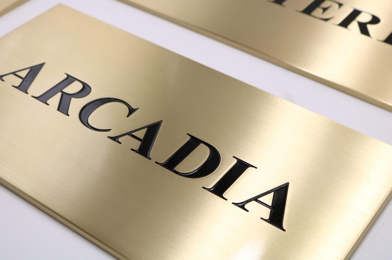 Arcadia plaque