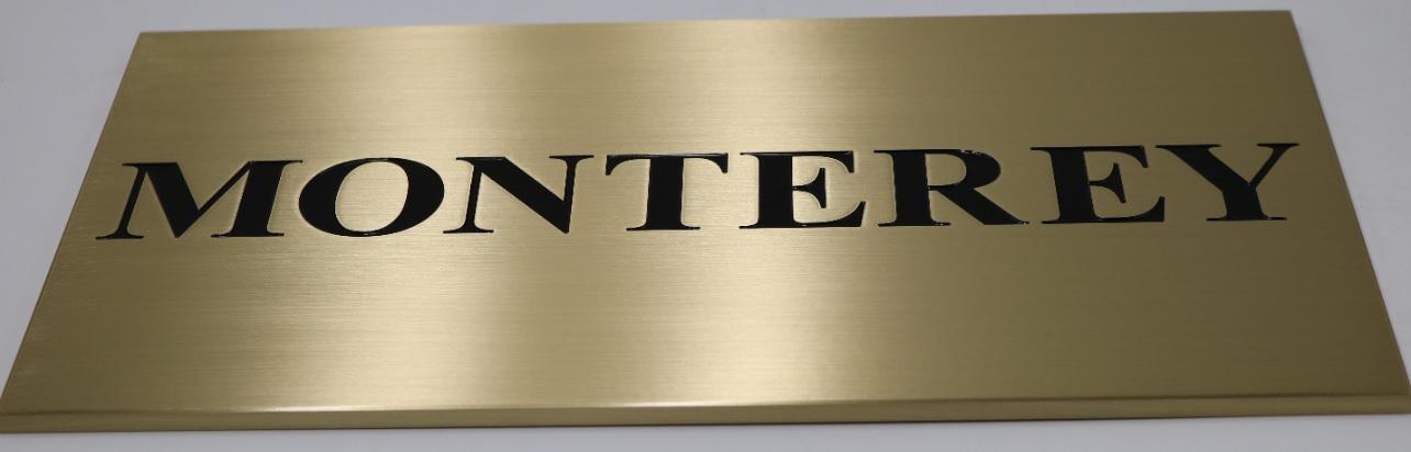 Monterey plaque