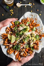 Loaded Nacho Sweet Potato Fries