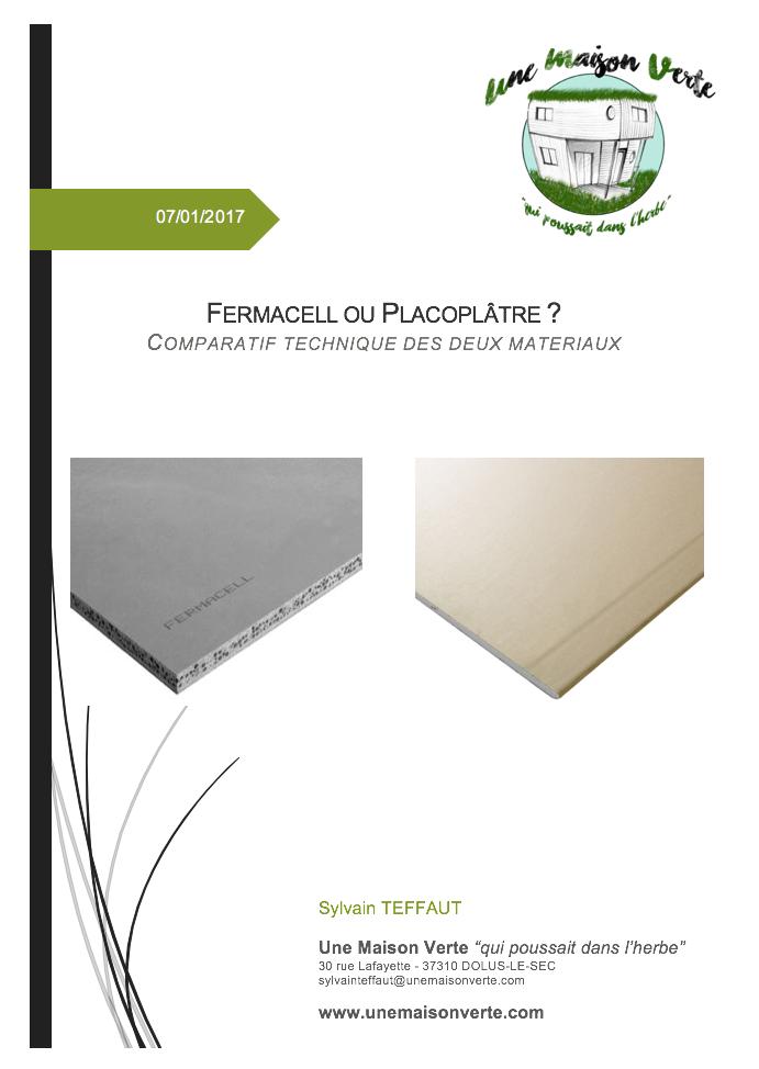 Fermacell ou PlacoPlâtre