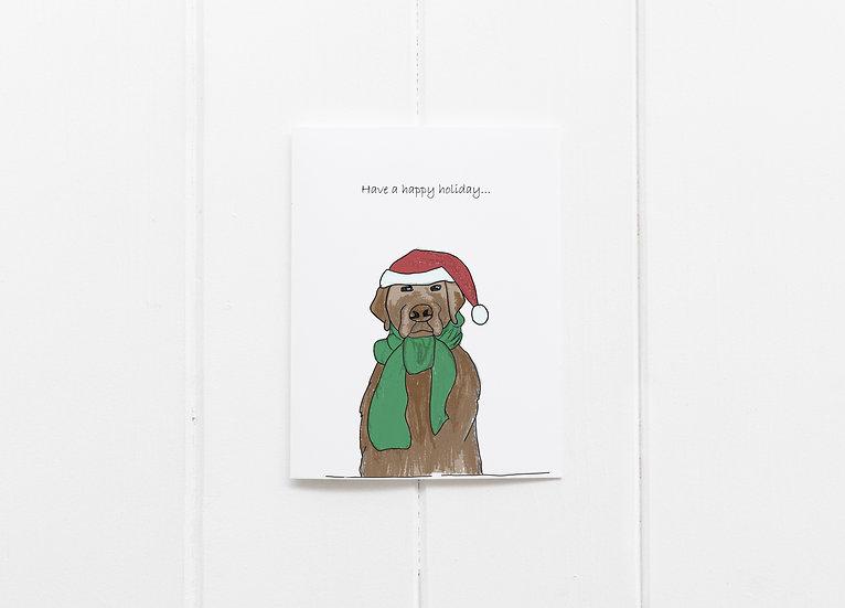 Santa Dog Happy Holidays